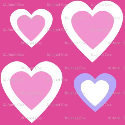 Pretty Princess Hearts on Pink