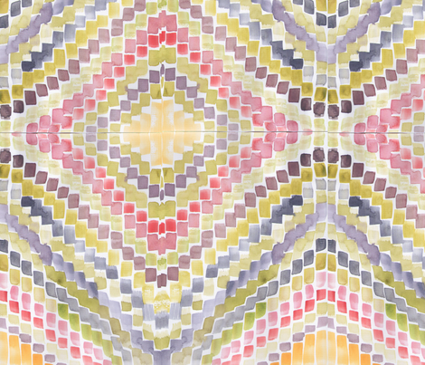 Paintbrushes tips in my favourite colours fabric by saffron-craig on Spoonflower - custom fabric