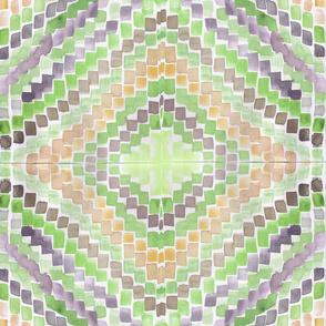 Paint brush tips in green