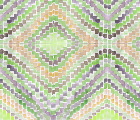 Paint brush tips in green and purple fabric by saffron-craig on Spoonflower - custom fabric