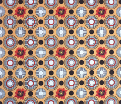 Retrocentric Warm Poppy Circles