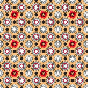 Retrocentric Warm Poppy Circles