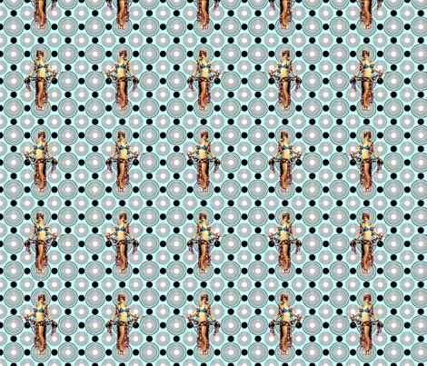 Bloomin Bizarre Blue fabric by lovekittypink on Spoonflower - custom fabric