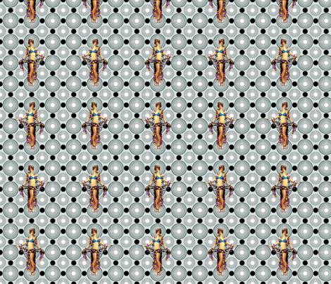 Bloomin Bizarre Nude fabric by lovekittypink on Spoonflower - custom fabric