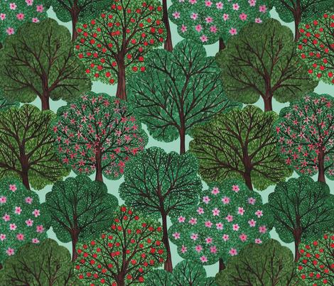 Trees Bien fabric by natacakes on Spoonflower - custom fabric