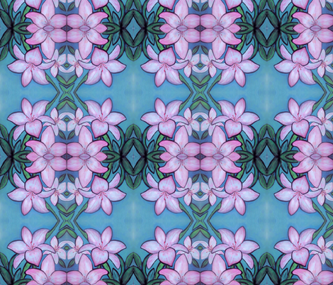 Lilies in pink  fabric by dogdaze_ on Spoonflower - custom fabric