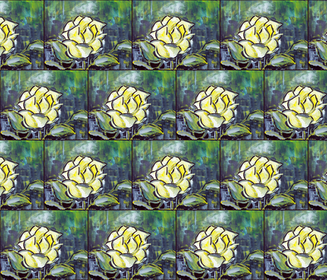 The Yellow Rose fabric by dogdaze_ on Spoonflower - custom fabric