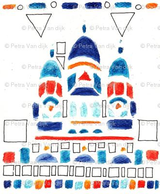 watercolor city