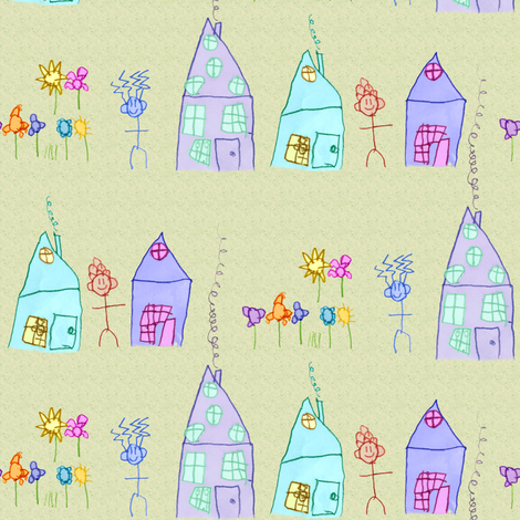 Mac's Village fabric by weavingmajor on Spoonflower - custom fabric