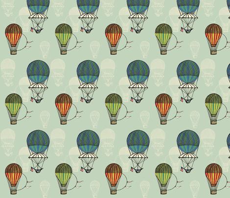Vintage Balloons fabric by sammyb on Spoonflower - custom fabric