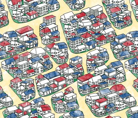 Welcome to the Neighborhood fabric by leighr on Spoonflower - custom fabric