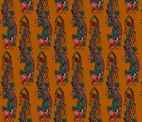 Bali dragon spice fabric by paragonstudios on Spoonflower - custom fabric
