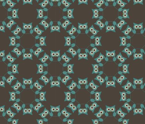 owlcoordinatesowls fabric by suziwollman on Spoonflower - custom fabric