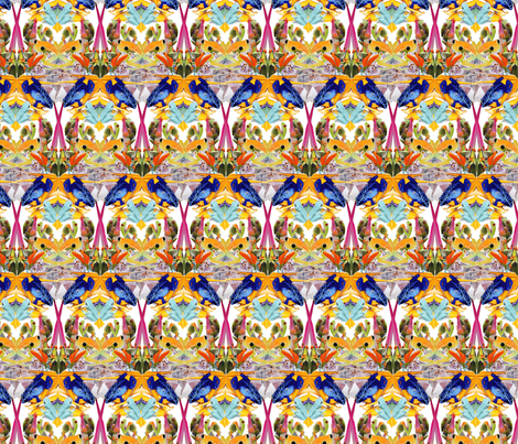 frogmotif2small fabric by hannahgoff on Spoonflower - custom fabric