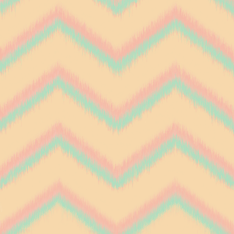Pastel chevrons in wind fabric by lucybaribeau on Spoonflower - custom fabric