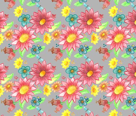 Ella's Garden fabric by cloverandviolet on Spoonflower - custom fabric