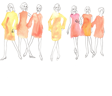 fleur_girls fabric by likepearlsonastring on Spoonflower - custom fabric