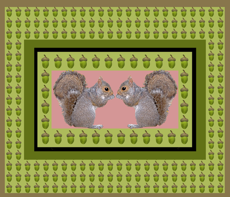 Squirrel Whispers fabric by nezumiworld on Spoonflower - custom fabric