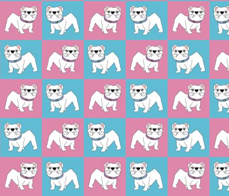 Baby Bulldogs  fabric by missyq on Spoonflower - custom fabric