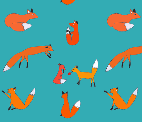 talking about cute fabric by magneetje on Spoonflower - custom fabric