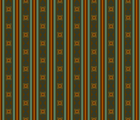Bali Dragon medallion stripe fabric by paragonstudios on Spoonflower - custom fabric