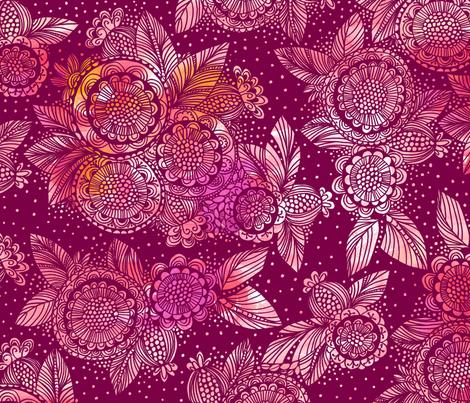 Burst_of_Flowers fabric by stacyiesthsu on Spoonflower - custom fabric