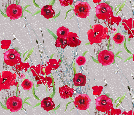 poppy field fabric by katarina on Spoonflower - custom fabric