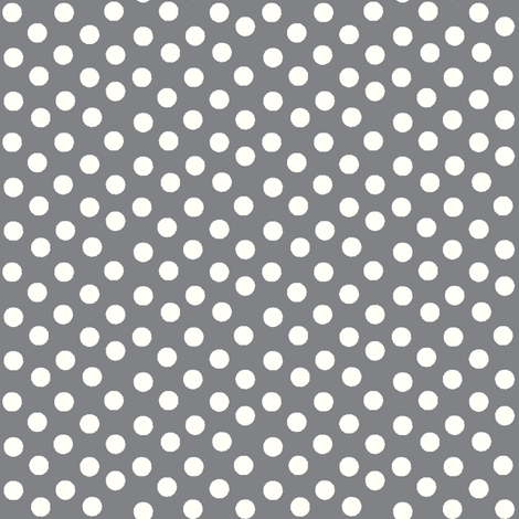 Pretty Polka Dots in Pewter fabric by thepinkhome on Spoonflower - custom fabric