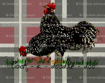 2 Roosters Plaid