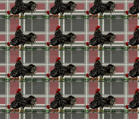 2 Roosters Plaid fabric by paragonstudios on Spoonflower - custom fabric