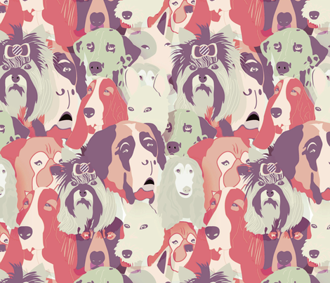 I ♥ dogs  fabric by demigoutte on Spoonflower - custom fabric