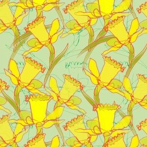 Daffodil Dream - green