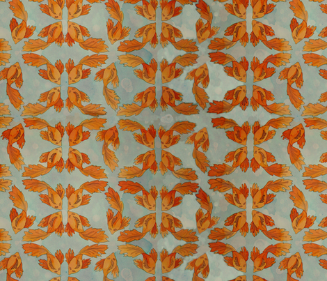 acanthus_repeat fabric by emeliaeh on Spoonflower - custom fabric