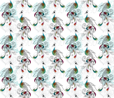 Plumage fabric by emilou on Spoonflower - custom fabric
