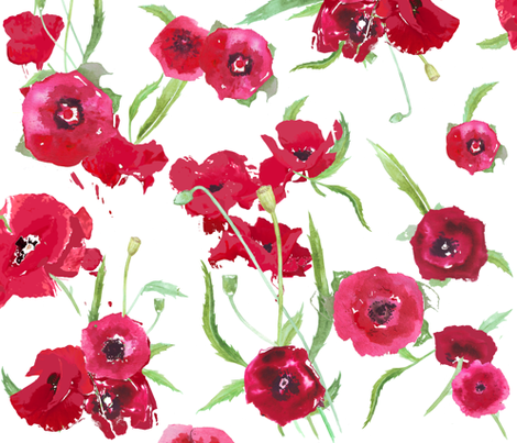 poppy_fresh fabric by katarina on Spoonflower - custom fabric