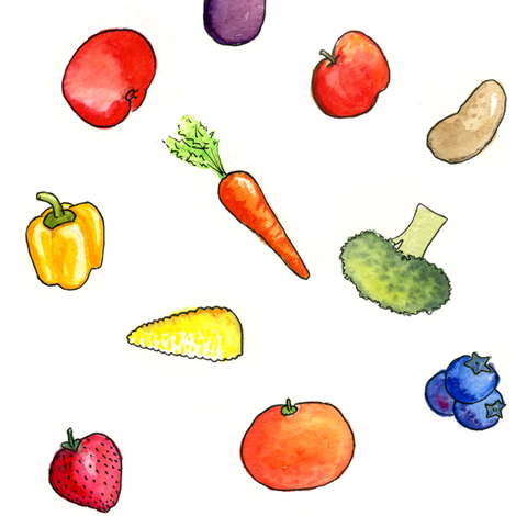 Five a Day fabric by gershamabob on Spoonflower - custom fabric