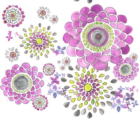 lilyFlower fabric by flock on Spoonflower - custom fabric