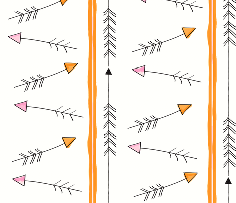 boho arrows fabric by fable_design on Spoonflower - custom fabric
