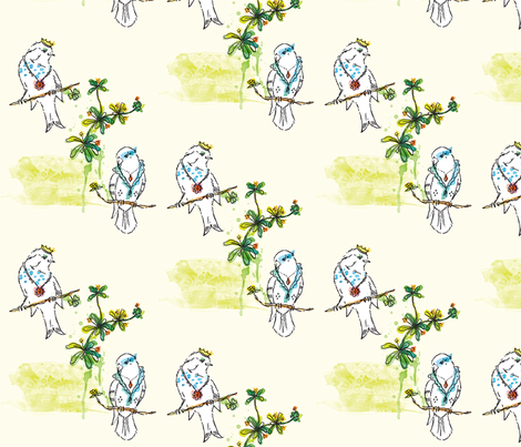 Royal Courtship fabric by nicky_ovitt on Spoonflower - custom fabric