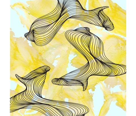 yellow fabric by wendyjanedesigns on Spoonflower - custom fabric