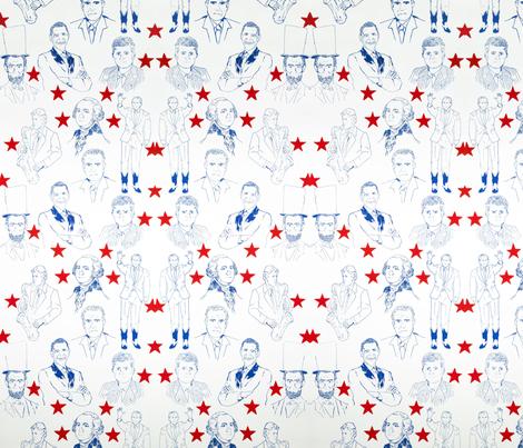 PresidentialWallpaperRepeat fabric by laurencrawford on Spoonflower - custom fabric