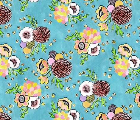 Garden Party fabric by gypsyverde on Spoonflower - custom fabric