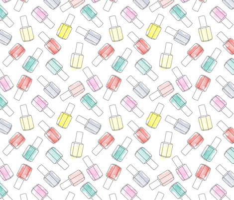 nailpolish_pattern fabric by alihenrie on Spoonflower - custom fabric