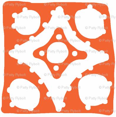 Spotty Diamond Tile(deep orange)