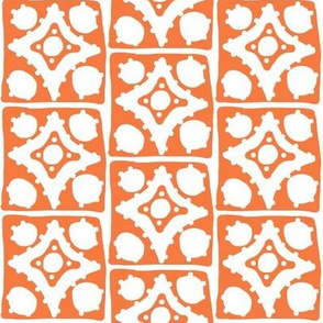 Spotty Diamond Tile(deep orange)