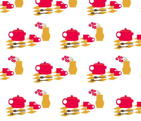Mid-Century Kitchen fabric by applejackkids on Spoonflower - custom fabric