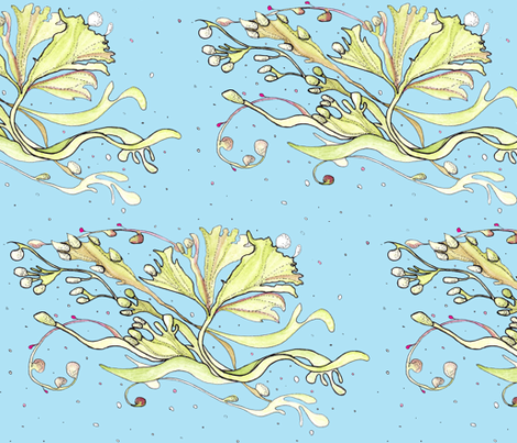 floating seaweed fabric by annemclean on Spoonflower - custom fabric