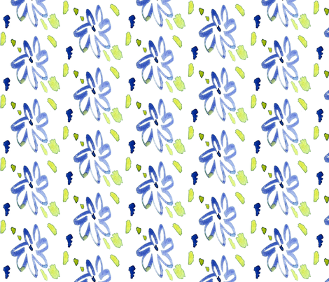 cestlaviv_daisy fabric by cest_la_viv on Spoonflower - custom fabric
