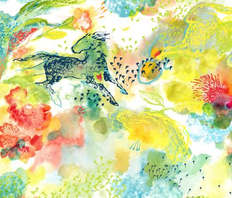 Animal Frolic fabric by kantakaa on Spoonflower - custom fabric