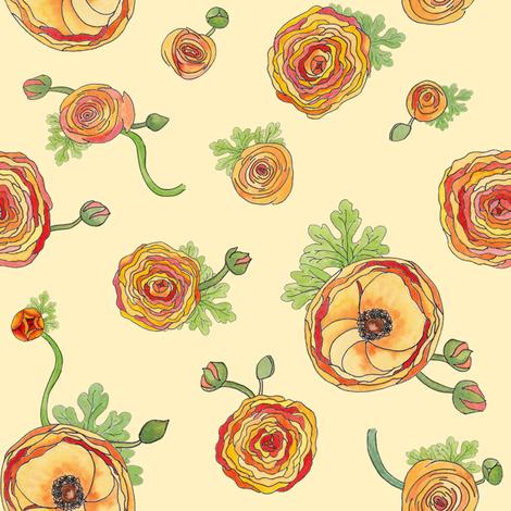 Ranunculus fabric by sheila_marie_delgado on Spoonflower - custom fabric